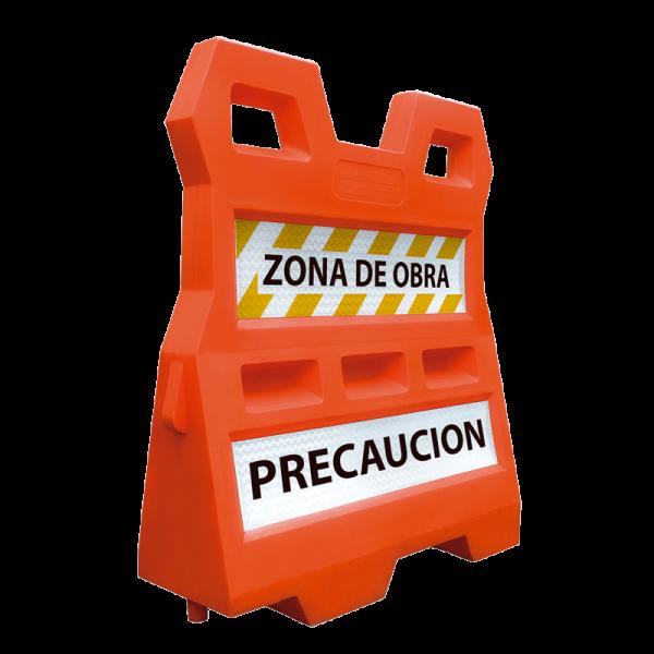 Código: BGP-145 Barrera de gran altura usada para encauzar el tránsito de vehículos y personas, crear zonas restringidas o delimitar áreas. Con aleta de tiburón lateral que garantiza la unión y sistema de ensamble para formar curvas o rectas. Se puede lastra con agua o arena para incrementar el peso y estabilidad. Fabricada de una sola pieza en polietileno de media densidad con U.V. Medidas: Largo: 120.0 cm. Alto: 140.0 cm. Ancho: 45.0 cm Colores: naranja o sobre pedido