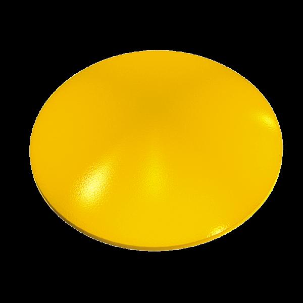 Código: BT-CER Botón indeformable, moldeado de una sola pieza en cerámica. Se instala sobre cualquier superficie, por lo que puede ser empleado en múltiples aplicaciones como son: delimitar carriles o indicar zonas peatonales, cruces y vueltas. Alta resistencia a impactos. Medidas: Diámetro: 10.3 cm. Alto: 2.1cm. Colores: blanco y amarillo.