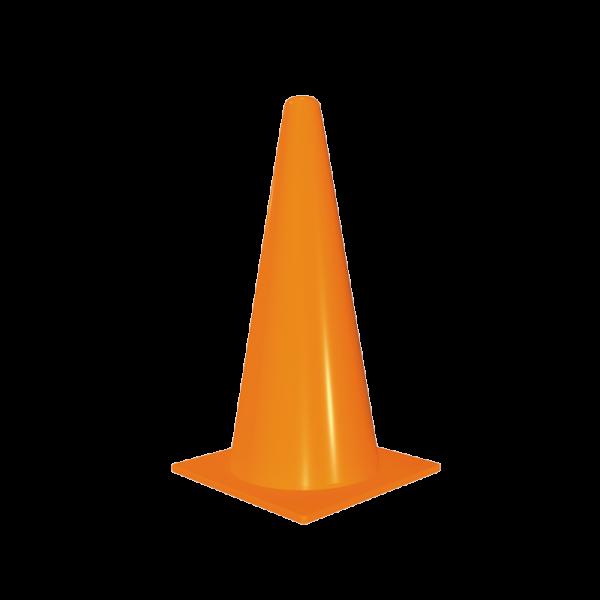 Código: CN-41 Cono semiflexible fabricado en polietileno de alta densidad de una sola pieza en color naranja flourescente. Fácilmente ubicables de día o noche. Con protección U.V. Cono que por su tamaño se recomienda en industrias, situaciones de emergencia o escuelas. Medidas: Base: 20.0 cm. por lado. Alto: 41.0 cm.