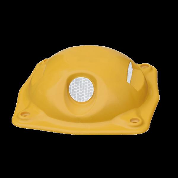 """Código: I-68 Boya con cuatro áreas reflejantes ubicadas de forma que logra hacer que no se pierda de vista hacia los conductores. Adecuada para colocarse en avenidas con contraflujos o doble sentido. Fabricada en polietileno de alta densidad. Acabado en color amarillo. Incluye 4 clavos de 1/4"""" x 2 clavos de 1/2"""" de acero. Reflejante de alta densidad en ambas caras. Medidas: Ancho: 20.0 cm. Alto: 6.8 cm. Reflejante: blanco o ámbar."""