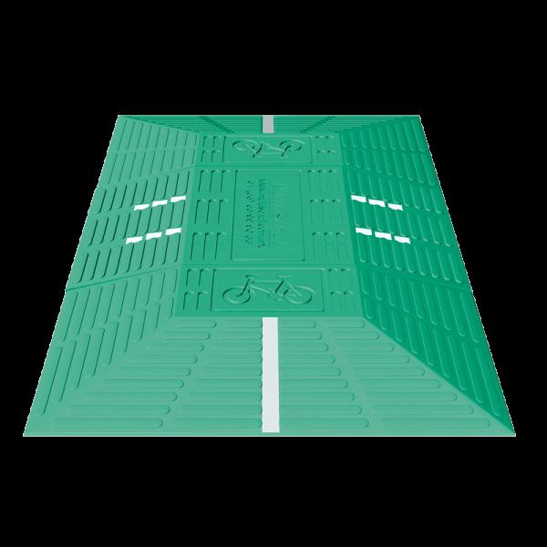 Código: MOD-120 Se instalan preferentemente en carriles de ciclopistas, metrobús o contraflujos, cuya función es evitar la invasión de vehículos. Por su gran tamaño asegura la reducción de velocidad protegiendo a ciclistas y peatones. Líneas de vibrador en alto relieve y reflejante (opcional). Módulos ensamblables para lograr diferentes longitudes. Altura óptima que no roza la parte inferior del vehículo. Fabricado en polietileno de alta densidad con U.V. Resiste el paso de cualquier tipo de vehículo. Medidas: Ancho: 60.0 cm. Largo: 120.0 cm. Altura: 10.0 cm. Color: negro, amarillo o verde. Reflejante: blanco o ámbar.