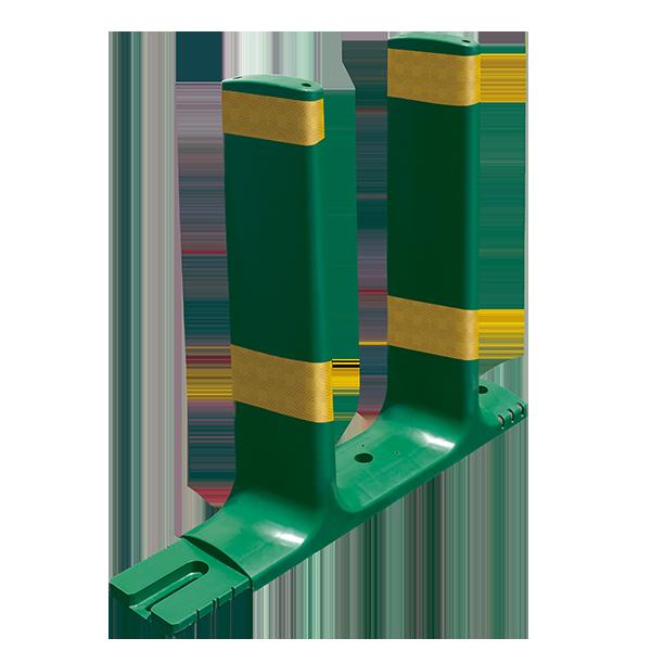 Código: P-ADS-62 Paleta antideslumbrante modular, adecuada para colocarse sobre barreras de concreto. Cada módulo consta de dos paletas antideslumbrantes, lo que representa ahorro de tiempo en la instalación. Cuenta con dos orificios para ser atornillada. Se le puede colocar reflejante para aumentar su visibilidad durante la noche. Medidas: Largo: 71.0 cms, Alto: 62.0 cms y Ancho: 13.5 cms. Color: Verde Reflejante: ámbar o blanco.